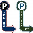 Stock Vector: Parking Structure Sign
