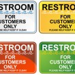 Restroom Sign Set — Stock Vector