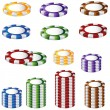 Royalty-Free Stock Vector Image: Poker Chip Set