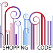 Shopping Barcode — Stock Vector