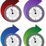 Набор стрелку вперед часы — Cтоковый вектор