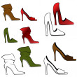High Heel Shoe Set — Stock Vector