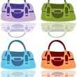 Stock Vector: Purse Set