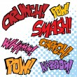 Comic Sound Effects — Stock Vector