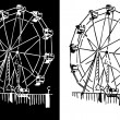 Ferris Wheel — Stock Vector