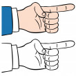 Stock Vector: Finger Pointing