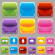 Square Button Set - Stock Vector
