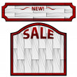 White Wooden Signs — Stock Vector