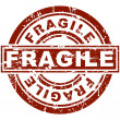 Fragile Stamp - Stockvectorbeeld