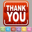 Thank You Button - Stock Vector