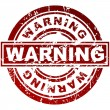Warning Stamp — Stock Vector