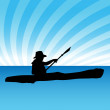 Kayak — Vector de stock #3984794