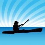 Kayak — Stock Vector