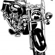 Vetorial Stock : Motorcycle Drawing