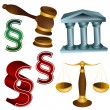 Stock Vector: Legal Set