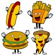 Stock Vector: Fast Food Characters