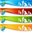 Royalty-Free Stock Vector Image: Exercising Mother Banners