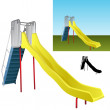 Realistic Playground Slide - Stock Vector