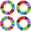 Colorful Time Wheel — Vecteur #3984876