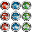 Free Chrome Rivet Buttons — Stock Vector