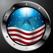 Vector de stock : American Flag Button