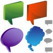 Multiple Chat Icons — Stock Vector