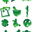 Medical 3D Icon Set - Stock Vector