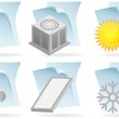 Air Conditioner Document Icons — Stock Vector