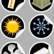Royalty-Free Stock  : Air Conditioner Icons / Stickers