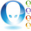 Royalty-Free Stock Vector Image: Alien Icon