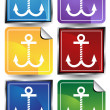 Anchors - 6 Sticker — Stock Vector