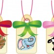Animal Gift Tags — Stok Vektör