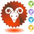 Stock Vector: Zodiac - Aries