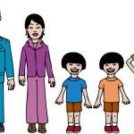 Modern Asian Family — Stock Vector #3985317