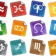Royalty-Free Stock Vector Image: Zodiac Stickers