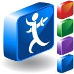 Backstab 3D Icon — Stock Vector