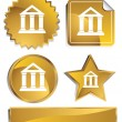 Royalty-Free Stock Vector Image: Goldish - Bank Building