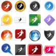 Royalty-Free Stock Vector Image: Basketball Variety Set
