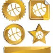 Gold - Basketball — Stock Vector