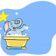 Elephant Bath Star — Stock Vector #3985478
