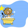 Lion Bath Star — Stock Vector #3985481
