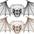 Stock Vector: Winged Demons