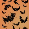 Stock Vector: Halloween Bats