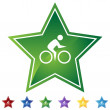 Star Set - Bicycle — Stock Vector