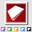 Stock Vector: Binder Icon Set