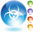 Biohazard Crystal Icon — Stock Vector