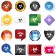 Biohazard Icon Set — Stock Vector