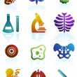 Vettoriale Stock : Biology Icon Set