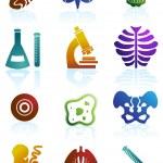 Biology Icon Set — Stock Vector