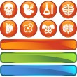 Biology Icon Set — Stock Vector #3985667